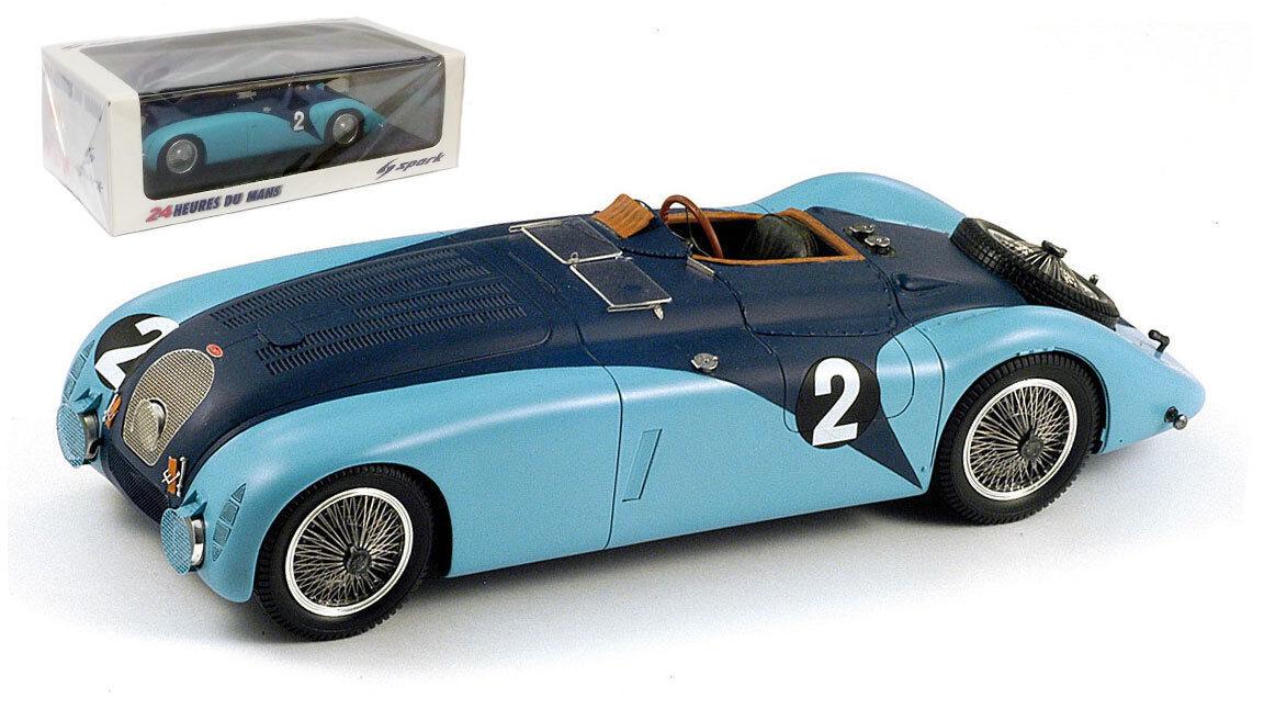 Spark 43lm37 Bugatti 57G   2 Vainqueur du Mans 1937-Wimille   Benoist, échelle 1 43,
