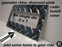 Yamaha Rhino Center Dash Blank With Radio Cut Out Diamond Plate ..