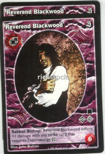 Reverend Blackwood x2 Tremere antitribu SE VTES Jyhad