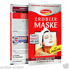 SCHAEBENS Strawberry Mask with Peeling ● Beauty Facial Skin Masks ● From Germany