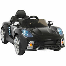 BCP 12V Kids Remote Control Ride-On Car w/ Lights, MP3, AUX - Black