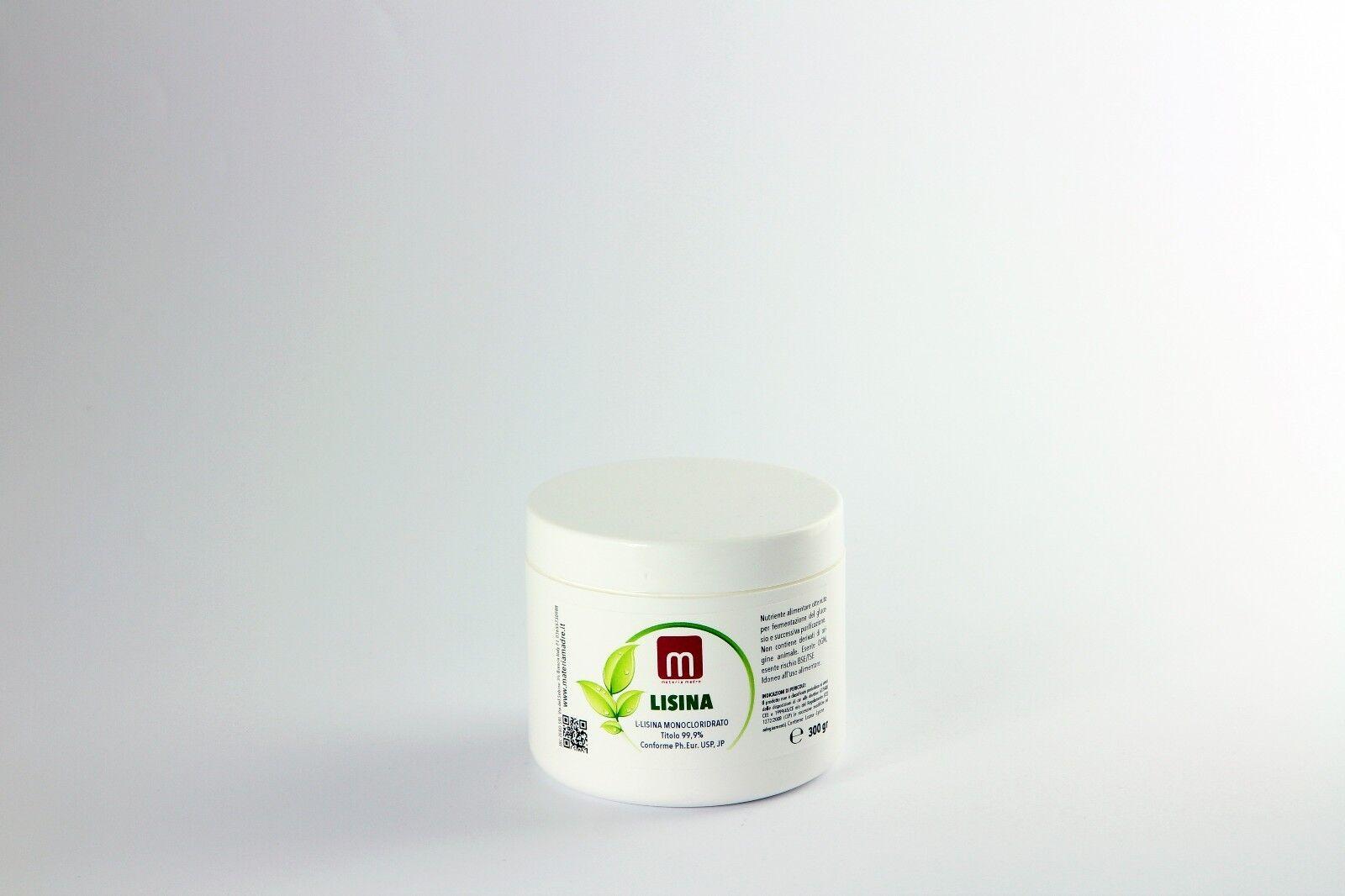 LISINA L-CLORIDRATO PURA PURA PURA Uso alimentare Barattolo 300 gr Lysine MateriaMadre af45c3