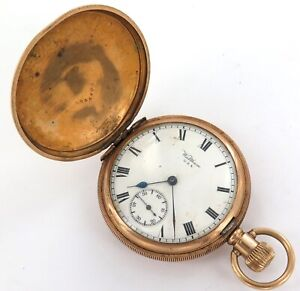 1916 WALTHAM TRAVELER 16S 7J MENS POCKET WATCH. A FIXER.