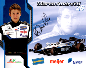 Marco Andretti INDY Blockbuster Signed Autographed Cardstock 8x10 Photo