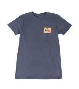 Quiksilver-Mens-Blue-Size-Small-S-Architexture-Graphic-Crewneck-Shirt-Tee-289