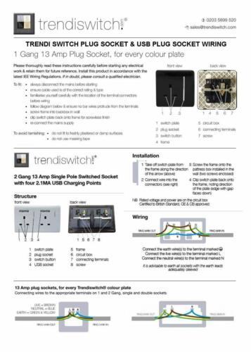 Trendi 1 Gang Artistique Moderne Champagne Gold 13 Amp Long commuté Plug Socket