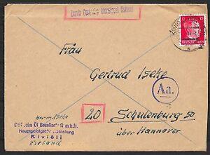 Ostland covers 1944 cover Deutsche Dienstpost Ostland/ KIWIÖLI