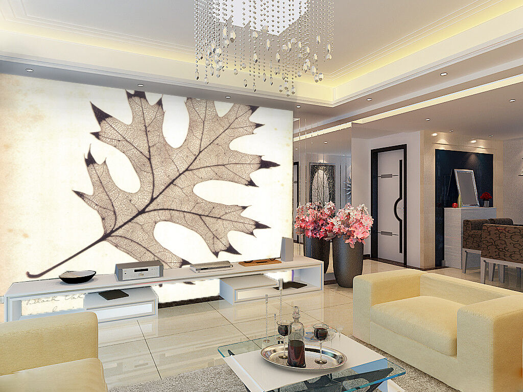 3D Dead Leaves Sketch Paper Wall Print Wall Decal Wall Deco Indoor Murals