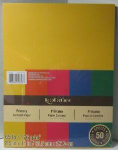 Recollections-Cardstock-Carta-8-1-5-1cm-x-27-9cm-50-Fogli-29-5kg-5-Colore-Prima