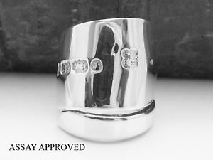 EXETER-ANTIQUE-SOLID-STERLING-SILVER-SPOON-RING-APPROVED-SIZE-K-L-M-N-O