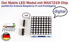 8x8 LED Matrix-Modul MAX7219 LED-Anzeige rot für Arduino, Raspberry Pi +Beispiel