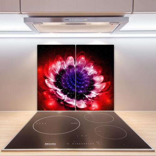 Herdabdeckplatten aus Glas Spritzschutz Abstrakte Blume 2x30x52 cm