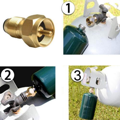 Propane Refill Adapter Gas Cylinder Tank Coupler Heater Camping Outdoor UULK