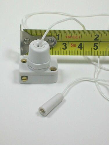 Dencon Mini interrupteur à tirette avec cordon Centre Pull Douche de Lumière-Blanc Envoi Gratuit