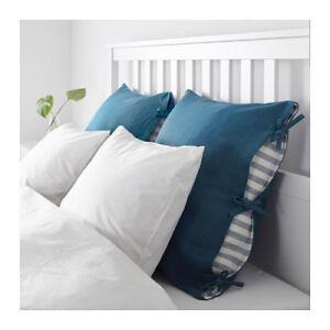 Idea Cuscini.Ikea Ursula Fodera Per Cuscino Verde Blu Scuro 65x65 Cm Ebay