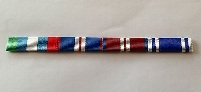 Pin or Sew On UNMIBH Golden /& Diamond Jubilee Police LSGC Medal Ribbon Bar