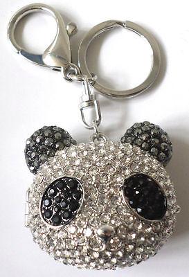 Cute Panda Bear Rhinestone Bling Key Chain Fob Phone Purse Charm