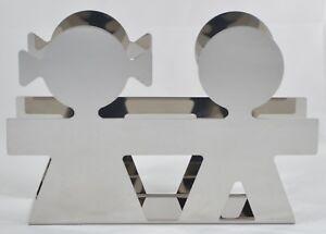 Alessi Napkin Letter Holder Girotondo Boy Girl Inox Stainless Italy King Kong Ebay