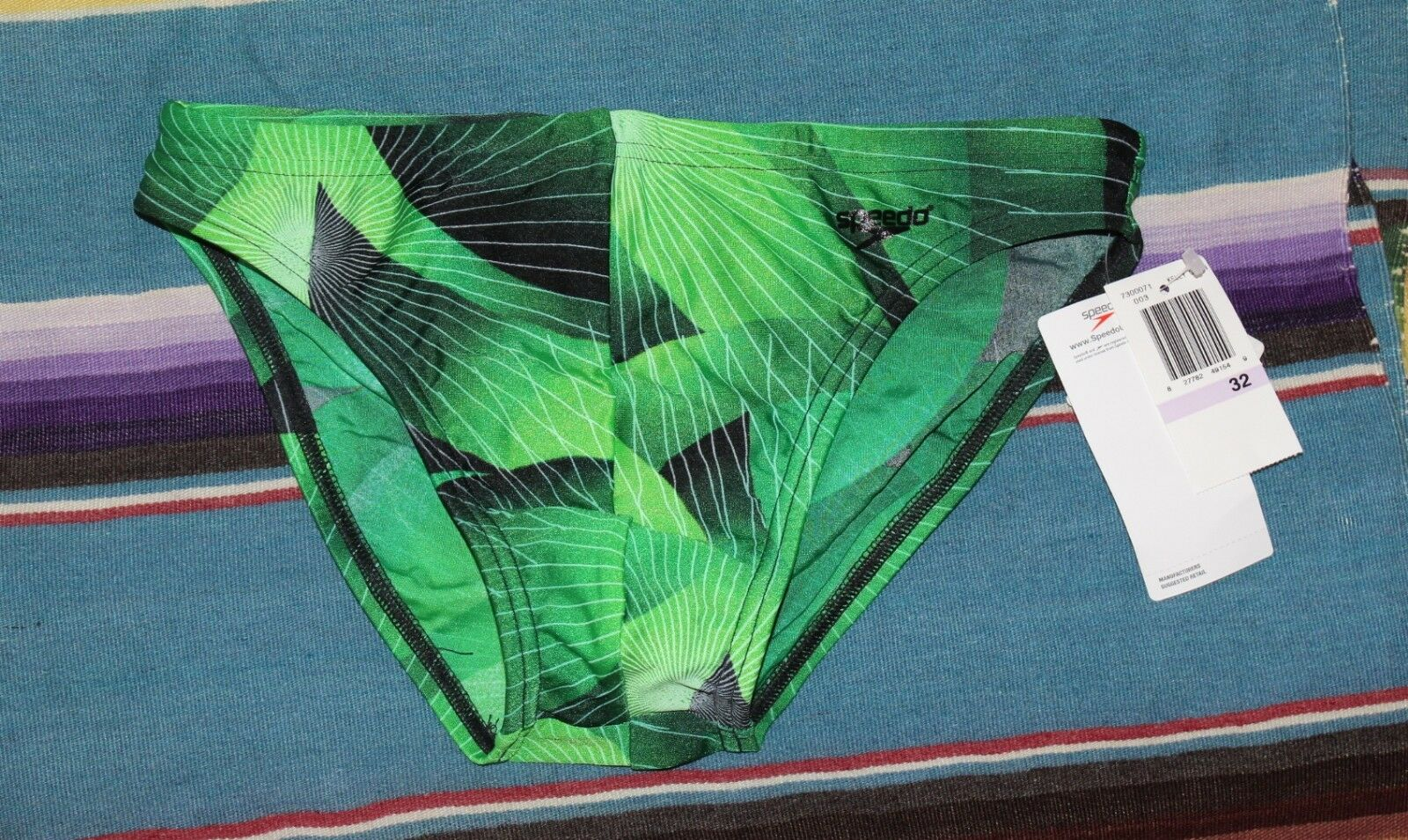 NEW Speedo Men's -Sz 32 M 2000s Funky Green 1.25  RACING Swim Briefs Bikini