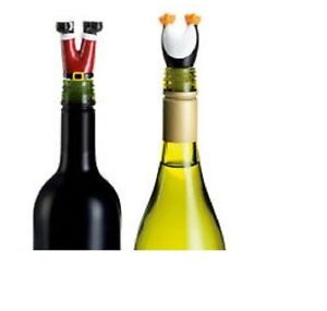 Christmas Wine Stoppers.Details About Avon Wine Saver Cork Bottle Stoppers Set Father Christmas Santa Penguin Legs