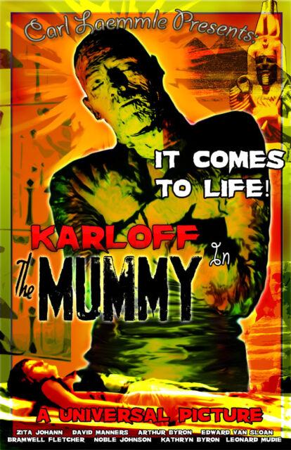 Boris Karloff The Mummy Vintage Movie Poster 24x36