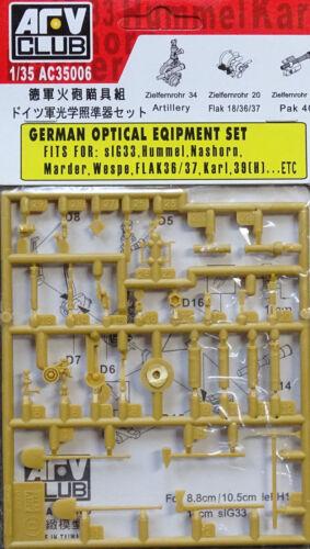 AFV CLUB 35006 WWII German Optical Equipment Set in 1:35