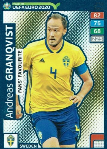 Panini Adrenalyn XL Road to Euro 2020 fans favourite nº 275 Andreas Granqvist