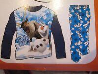 Boys Fleece Pajamas, Size 4. Disney's Frozen Shirt/ Pants Olaf Pjs