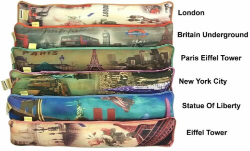 PILLOW DOOR /& WINDOW DRAFT//COLD /&WARMTH INSULATOR SOFT FABRIC DRAUGHT EXCLUDER