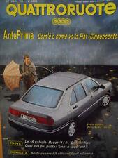 Quattroruote 432 1991 - Test 16 valvole: Rover 114 & Clio & Fiat Tipo     [Q39]