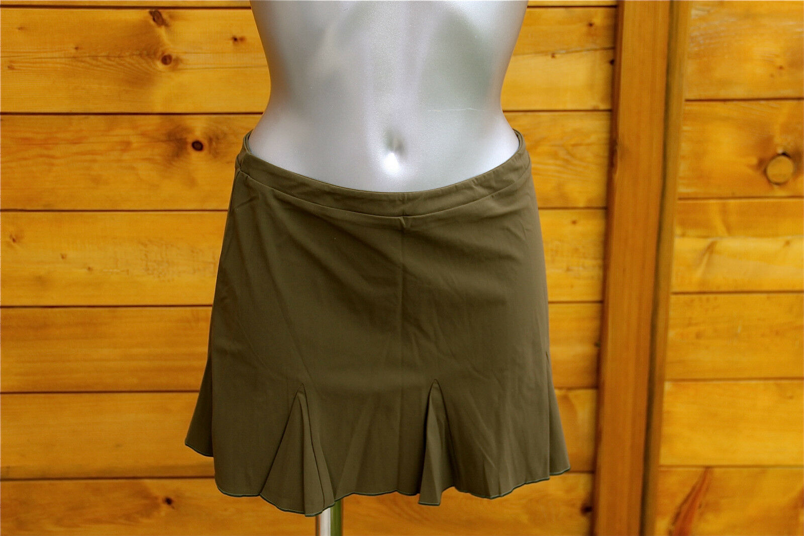 Mini skirt khaki luxe VANNINA VESPERINI size 42 NEW LABEL value