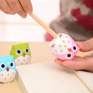 2pcs-Cute-Lovely-Owl-Pattern-Pencil-Sharpener-School-Kid-039-s-Favorite-Beautiful