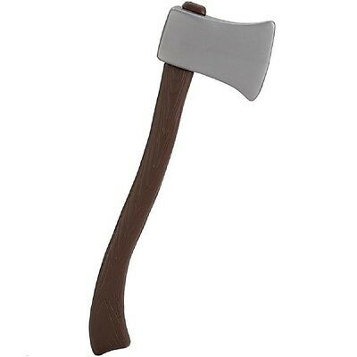 "24"" Plastic Woodcutter's Lumberjack Axe Halloween Fire Fighter Prop Accessory"