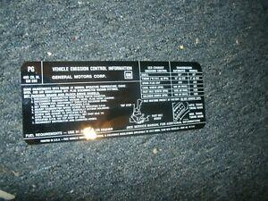 1972 PONTIAC FIREBIRD OR TRANS-AM 400 4BBL ENGINE EMISSIONS DECAL STICKER NEW