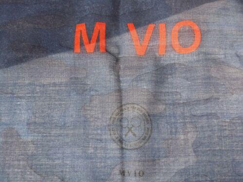 MVIO Dark Blue with Camouflage Patterns Print Long 100/% Wool Scarf Shawl Korea