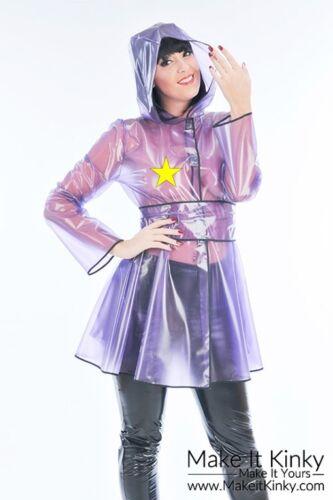Designer Flared Raincoat Plastic PVC Clothing Shiny PVCULIKE