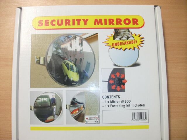 Security Mirror Convex 300mm With Fastening Kit Included, Parking Safety Mirror
