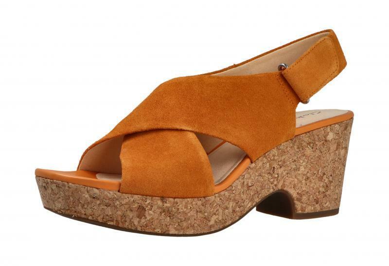 Clarks Damen Sandale Maritsa Lara AMBER SUEDE (Orange