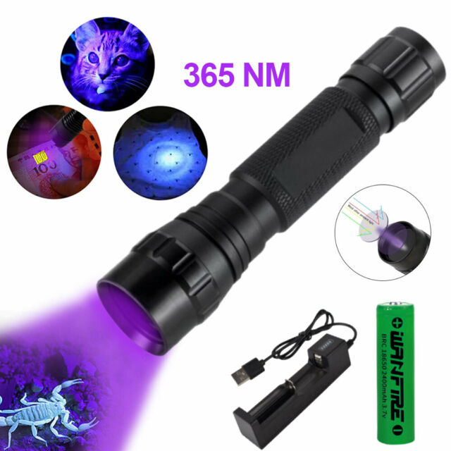 10W 365nm Ultraviolet Flashlight UV Torch Pet Urine Detector Money Inspect Light