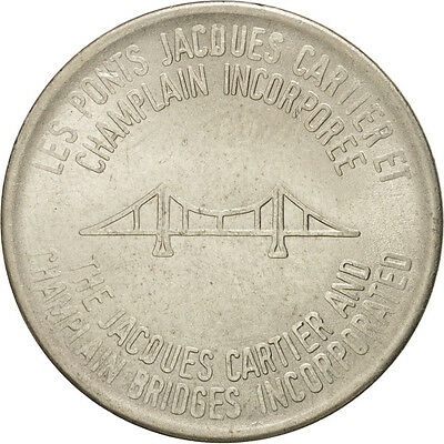 Canada #410836 The Jacques Cartier And Champlain Bridges Incorporated Delicious In Taste Token