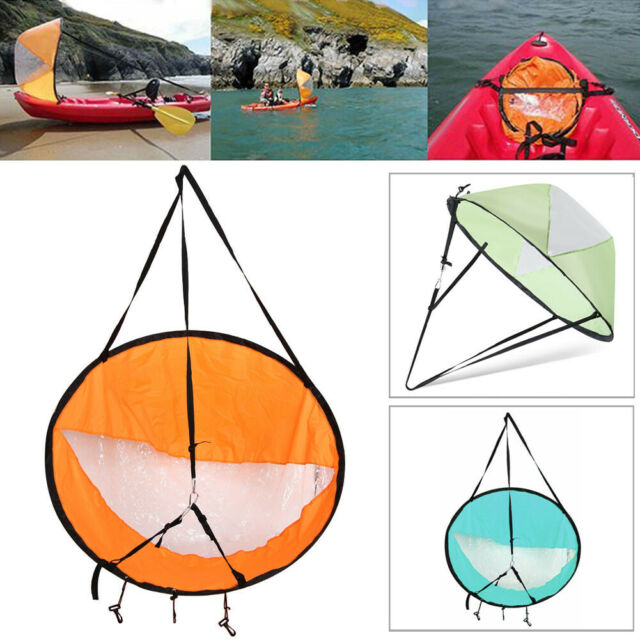 Portable Downwind Wind Paddle Popup Sail Foldable Canoe Kayak Accessories New