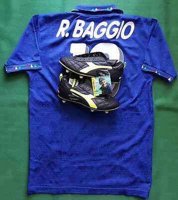 d38161f94f044b baggio DIADORA italia maglia+scarpini jersey USA 1994 World Cup no match  worn | eBay