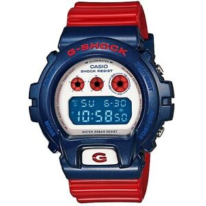 Casio-G-Shock-DW-6900AC-2-Red-Blue-White-200m-w-r-Men-039-s-Digital-Sports-Watch