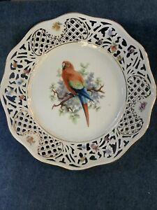 Schumann-Arzberg-Germany-TROPICAL-BIRDS-Parrot-Reticulated-Pierced-Plate-9