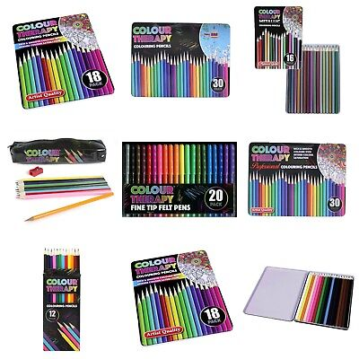 Colour Therapy Metallic Colouring Pencils 16 Pack in Presentation Tin