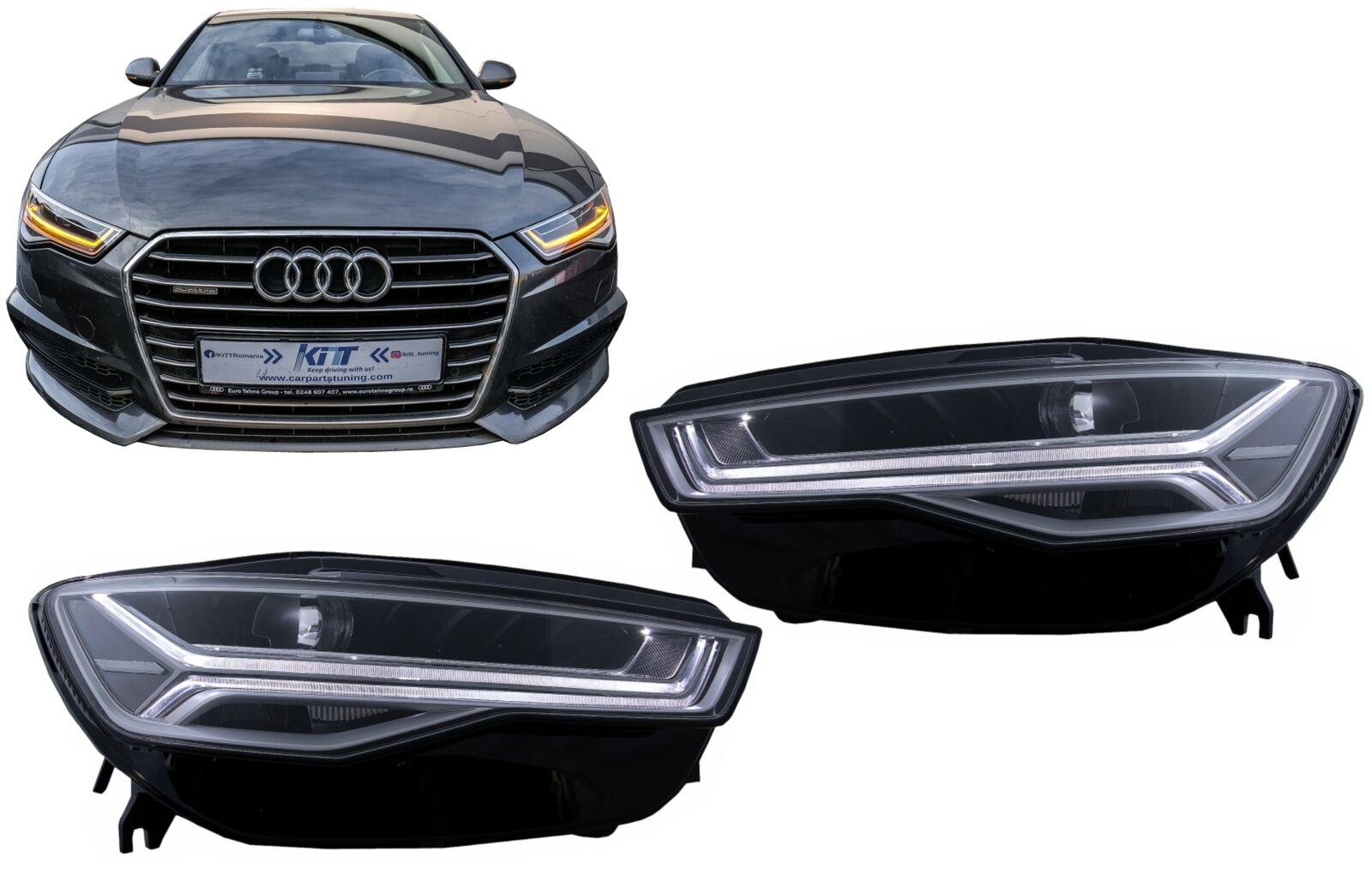 Full Led Headlights For Audi A6 4g C7 11 18 Facelift Matrix Look Dynamic Lights For Sale Online Ebay