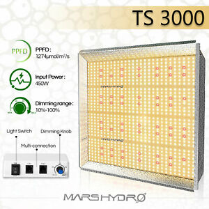 Mars Hydro TS 3000W LED Grow Light Full Spectrum for Indoor Plants Veg Flower IR