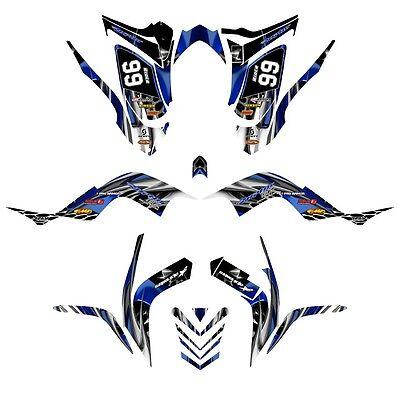 Yamaha Raptor 700 graphics 2006-12 full coverage racing decal kit NO4444 orange