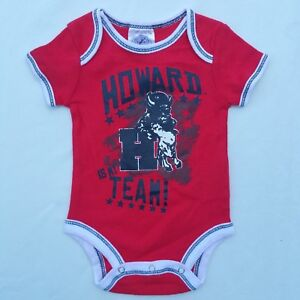 cd0f1d9fb Baby Infant Howard University Red Bison New Logo One Piece Size 3M ...