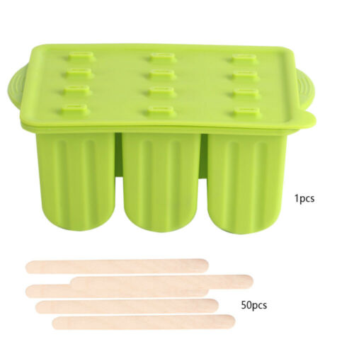12 Cell Ice Cream Mold Popsicle Molds DIY Homemade Dessert Freezer Mould